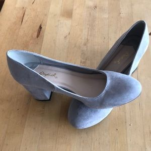 ModCloth gray block heels